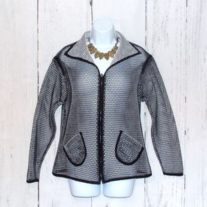 NWOT Cartise Punch Holes Reversible Jacket